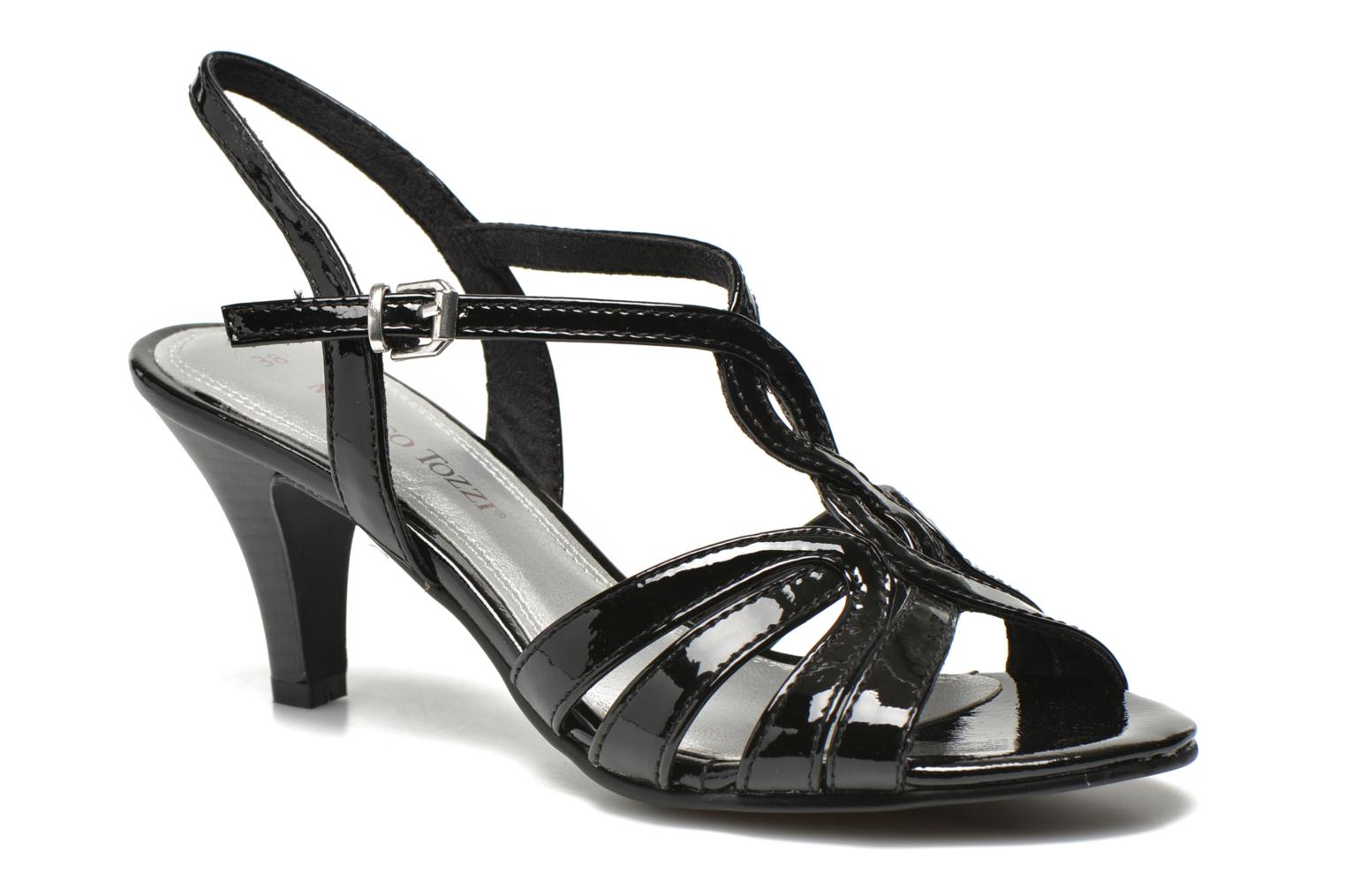 Marques Chaussure femme Marco Tozzi femme Anafi Black Patent