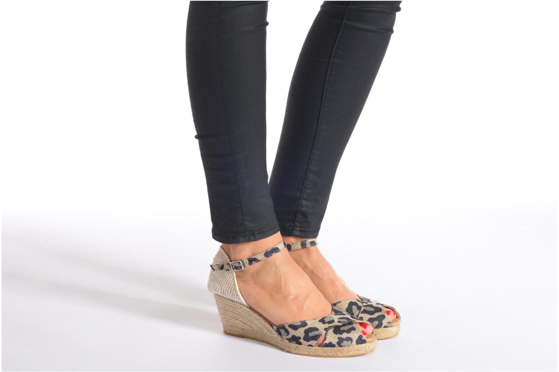Sandales et nu-pieds Elizabeth Stuart Trento 667 Marron vue bas / vue portée sac