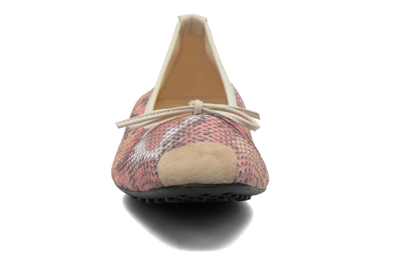 Ballerines Elizabeth Stuart Lacq 974 Rose vue portées chaussures