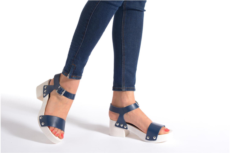 Sandales et nu-pieds Elizabeth Stuart Utac 869 Bleu vue bas / vue portée sac