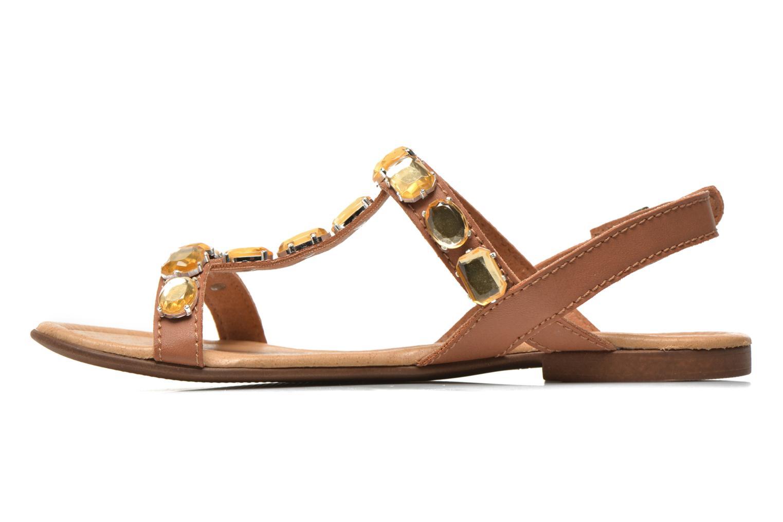 Sandales et nu-pieds Tamaris Turana Marron vue face