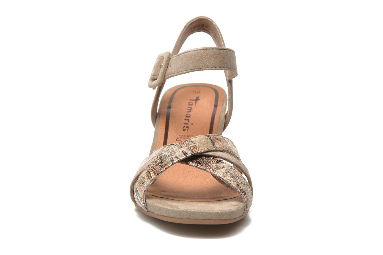 Sandales et nu-pieds Tamaris Covuja Beige vue portées chaussures