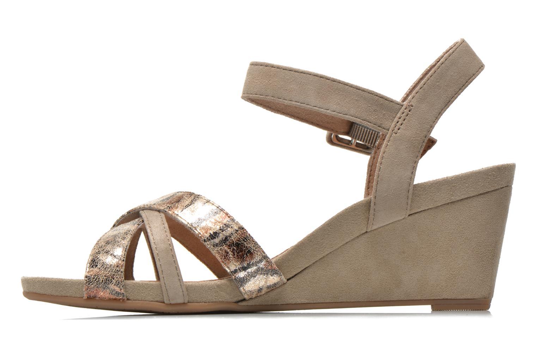 Sandales et nu-pieds Tamaris Covuja Beige vue face