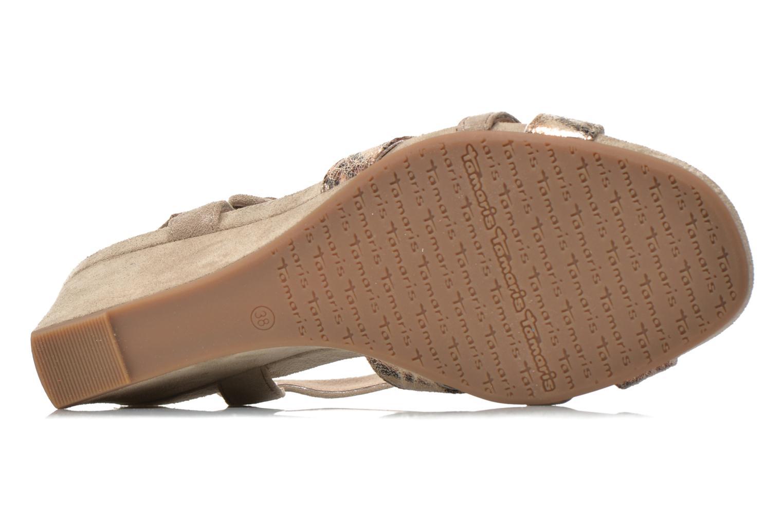 Sandales et nu-pieds Tamaris Covuja Beige vue haut