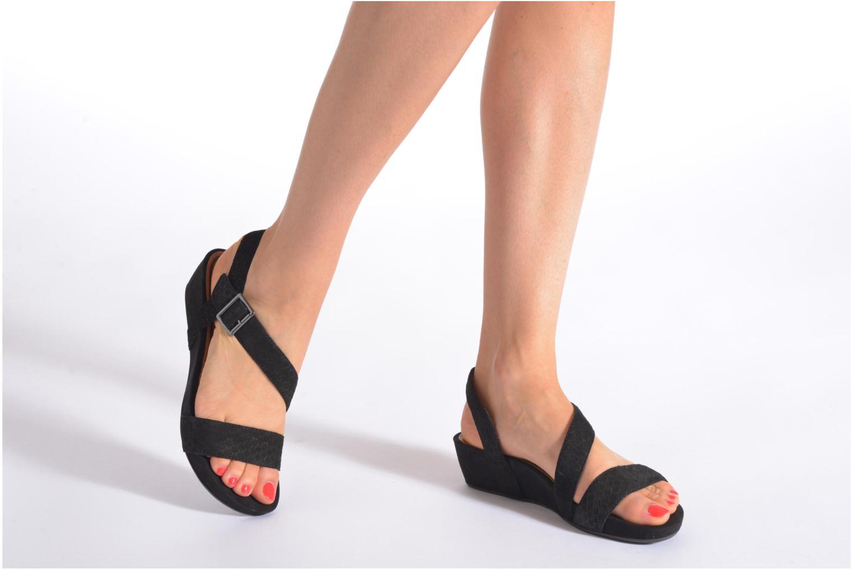 Sandales et nu-pieds Tamaris Gipoma Noir vue bas / vue portée sac