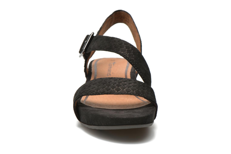Sandales et nu-pieds Tamaris Gipoma Noir vue portées chaussures