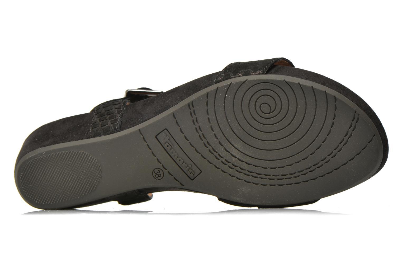 Sandales et nu-pieds Tamaris Gipoma Noir vue haut