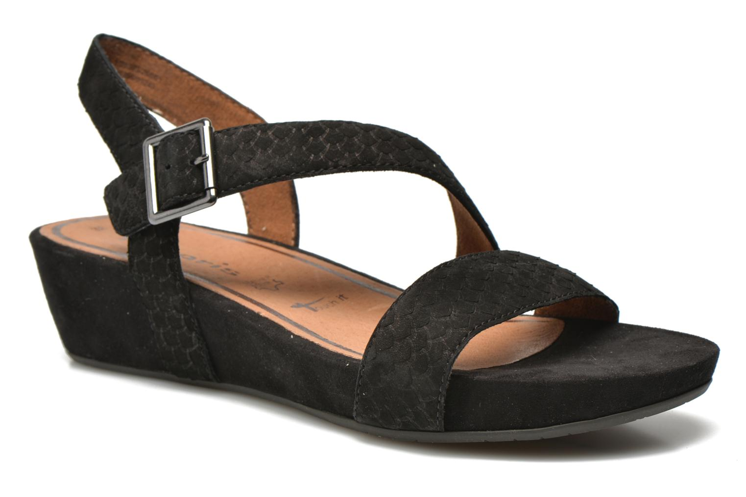Sandals Tamaris Gipoma Black detailed view/ Pair view