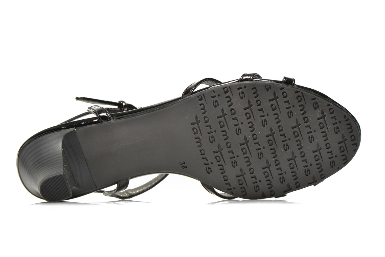 Sandales et nu-pieds Tamaris Zerofa Noir vue haut
