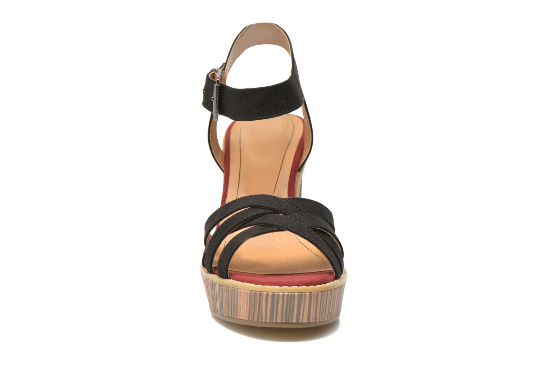 Sandales et nu-pieds Tamaris Atraba Noir vue portées chaussures