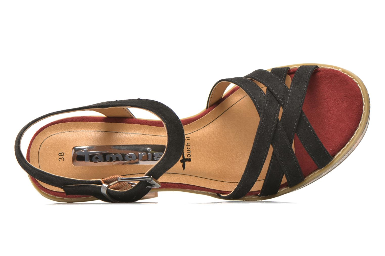 Sandales et nu-pieds Tamaris Atraba Noir vue gauche