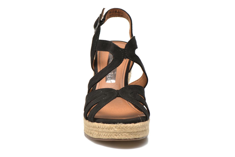 Sandales et nu-pieds Tamaris Pobafu Noir vue portées chaussures