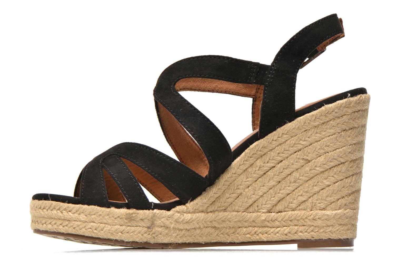 Sandales et nu-pieds Tamaris Pobafu Noir vue face