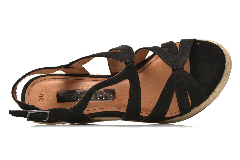 Sandales et nu-pieds Tamaris Pobafu Noir vue gauche