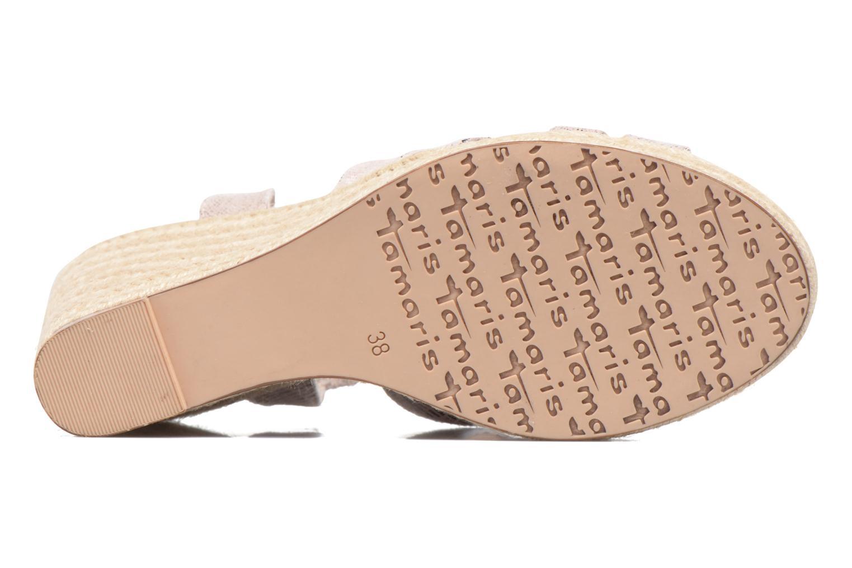 Sandales et nu-pieds Tamaris Pobafu Rose vue haut