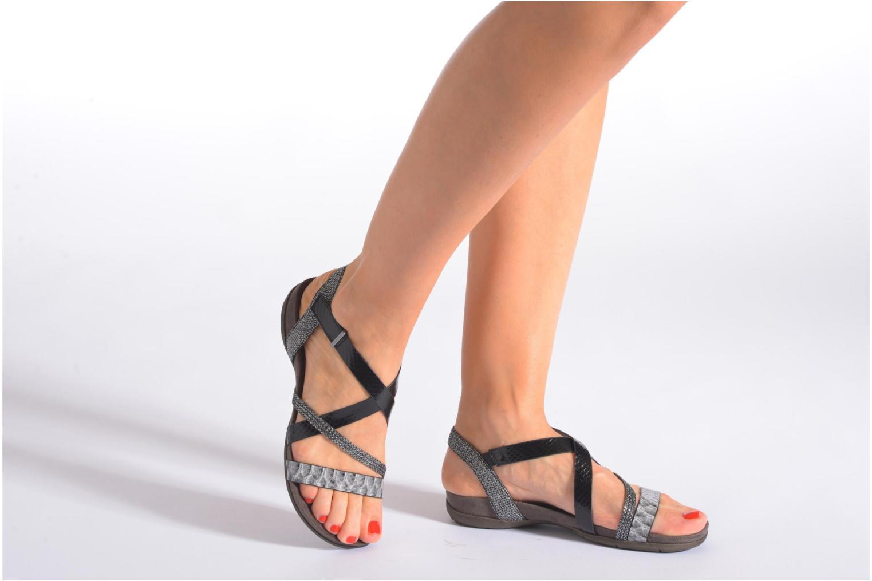Sandales et nu-pieds Tamaris Nurina Noir vue bas / vue portée sac