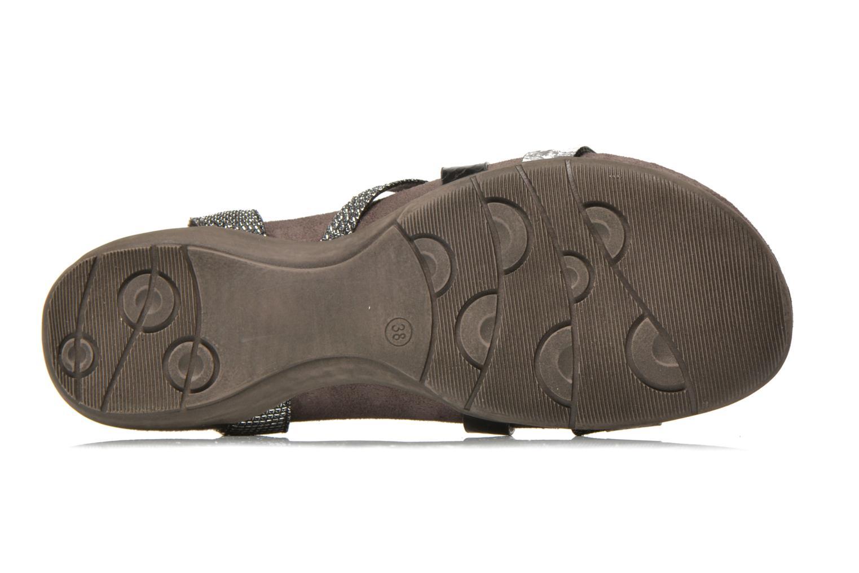 Sandales et nu-pieds Tamaris Nurina Noir vue haut