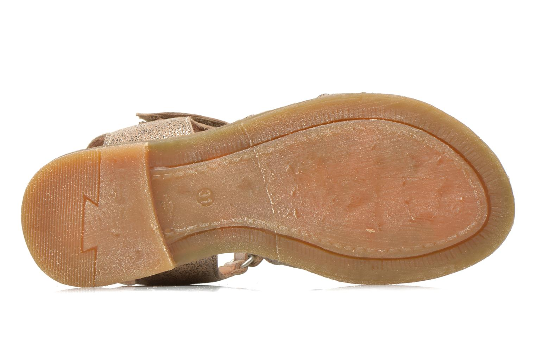 Sandales et nu-pieds Bisgaard Evi Argent vue haut