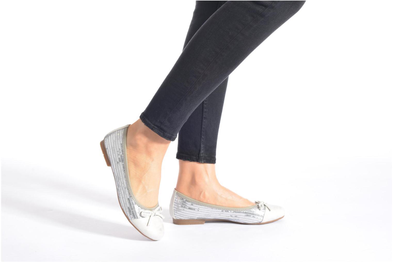 Ballerines Jana shoes Iliana Argent vue bas / vue portée sac