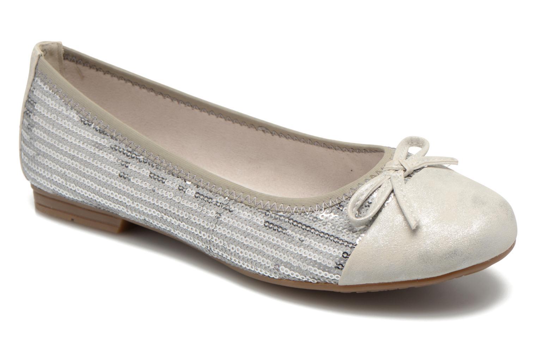 Ballerines Jana shoes Iliana Argent vue détail/paire