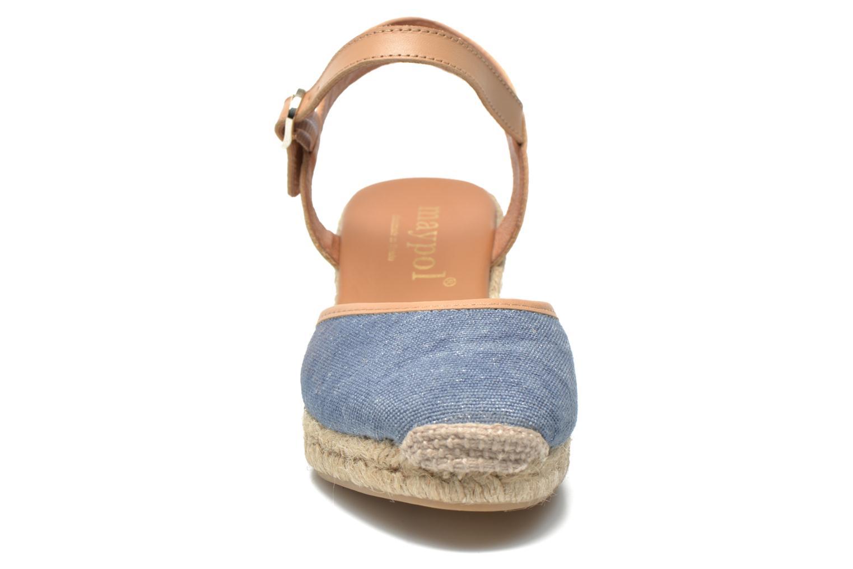 Sandales et nu-pieds Maypol Lolita Bleu vue portées chaussures