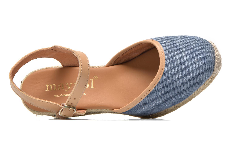 Sandales et nu-pieds Maypol Lolita Bleu vue gauche