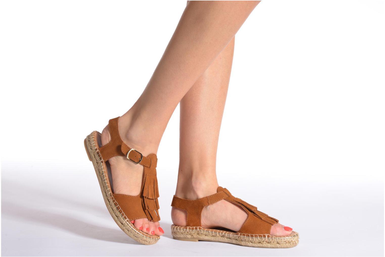 Sandales et nu-pieds Maypol Mohica Or et bronze vue bas / vue portée sac