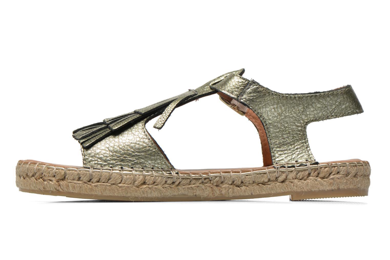 Sandales et nu-pieds Maypol Mohica Or et bronze vue face