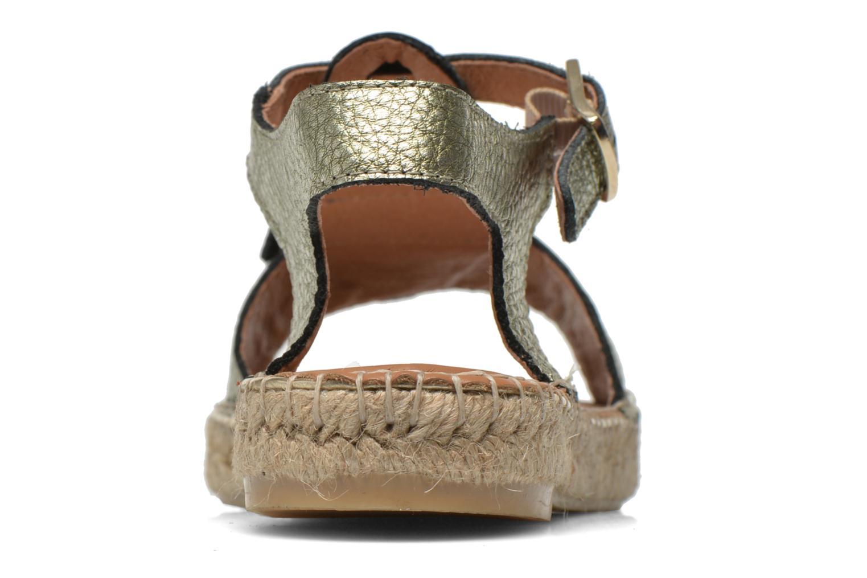 Sandales et nu-pieds Maypol Mohica Or et bronze vue droite