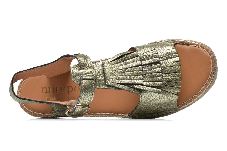 Sandales et nu-pieds Maypol Mohica Or et bronze vue gauche