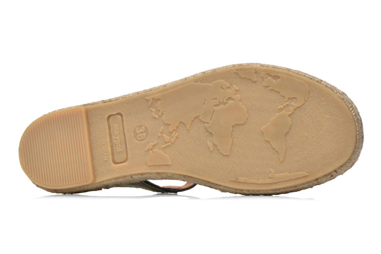 Sandales et nu-pieds Maypol Mohica Or et bronze vue haut