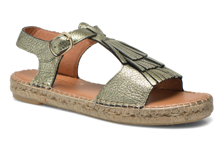 Sandales et nu-pieds Maypol Mohica Or et bronze vue détail/paire