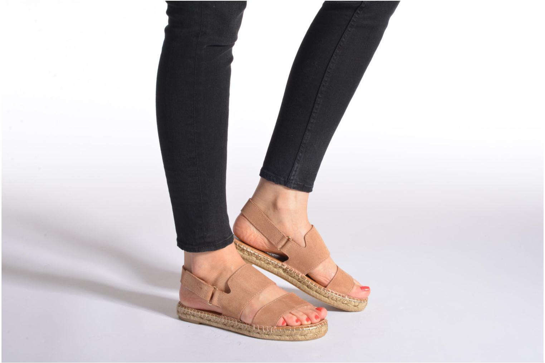 Sandales et nu-pieds Maypol Moss Noir vue bas / vue portée sac