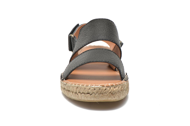 Sandales et nu-pieds Maypol Moss Noir vue portées chaussures