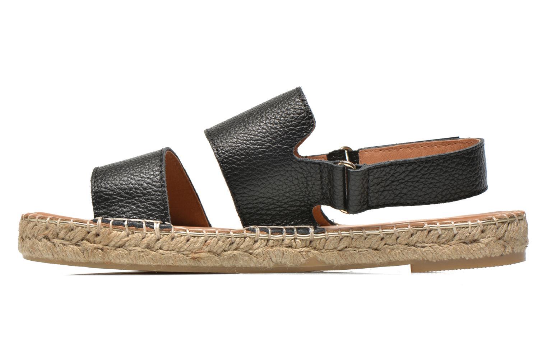Sandales et nu-pieds Maypol Moss Noir vue face