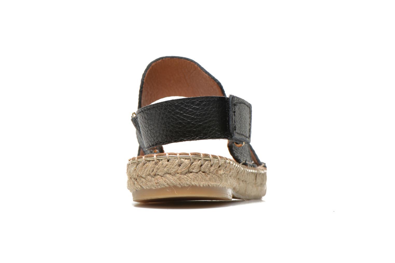 Sandales et nu-pieds Maypol Moss Noir vue droite