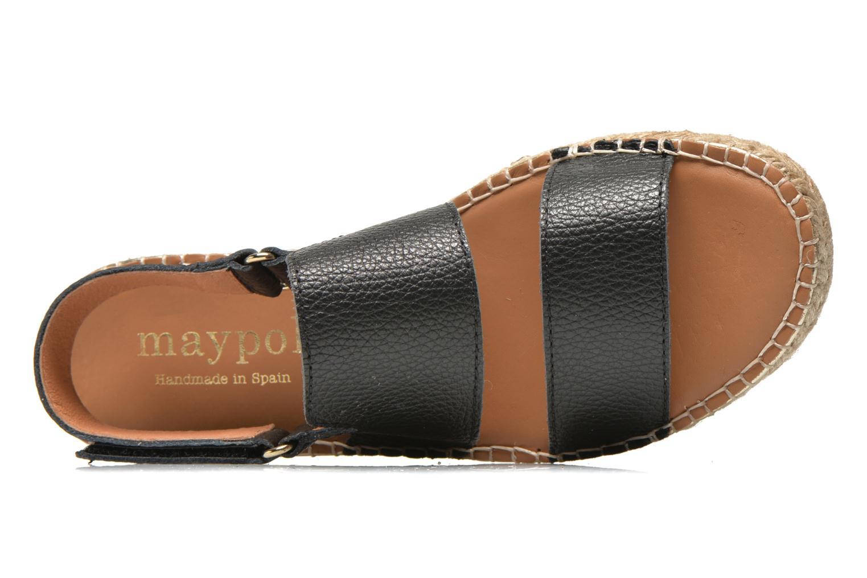 Sandales et nu-pieds Maypol Moss Noir vue gauche