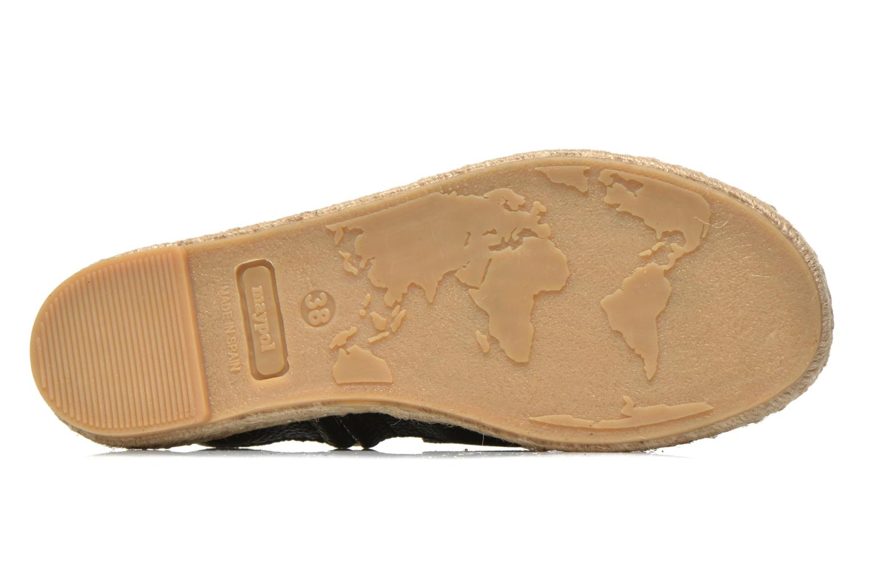 Sandales et nu-pieds Maypol Moss Noir vue haut
