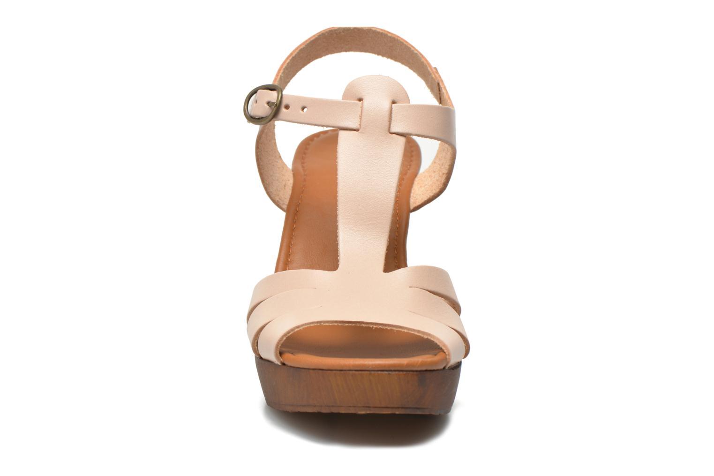 Sandales et nu-pieds Georgia Rose Dobois Beige vue portées chaussures