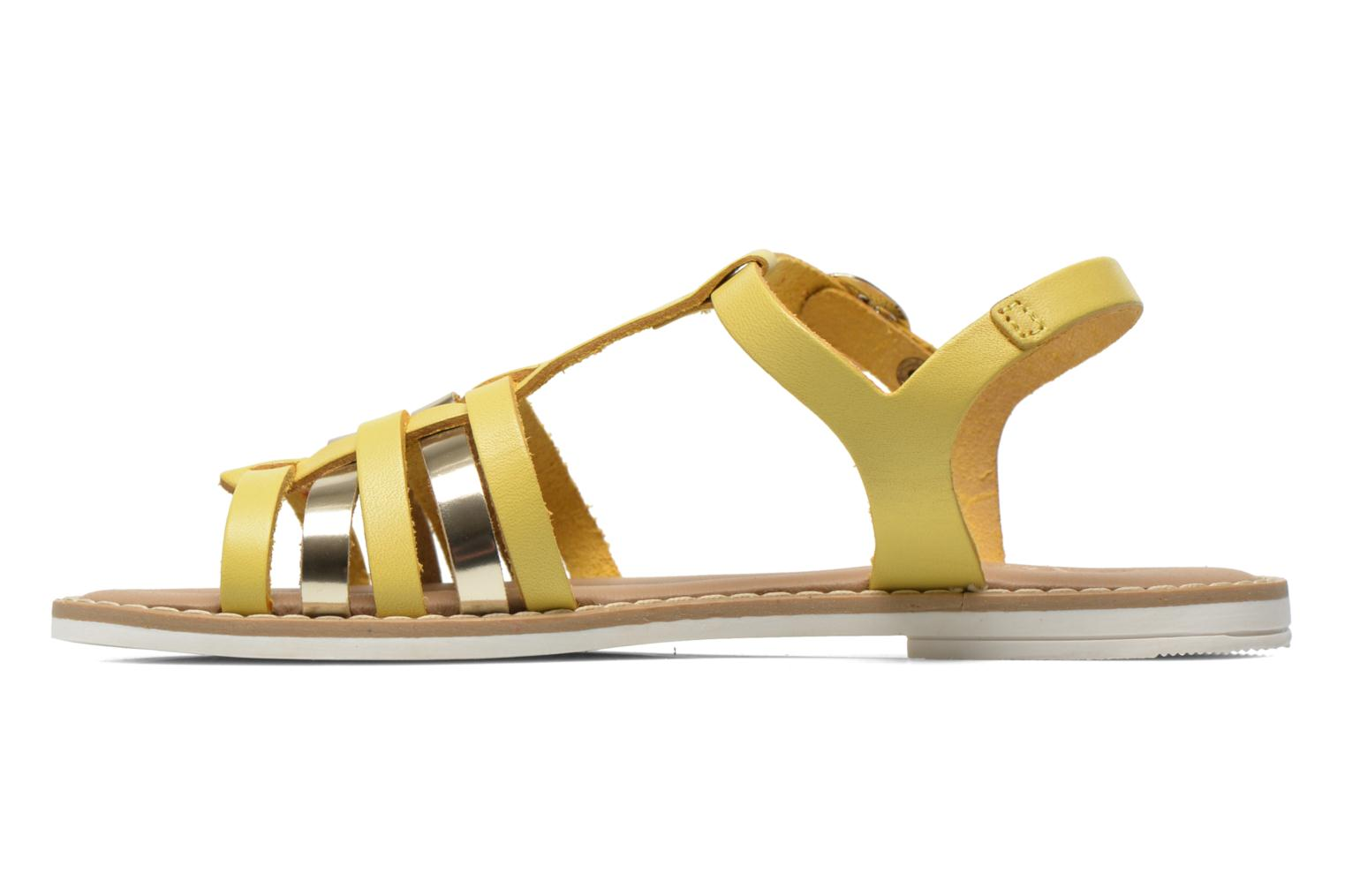 Sandals I Love Shoes Dobrides Yellow front view