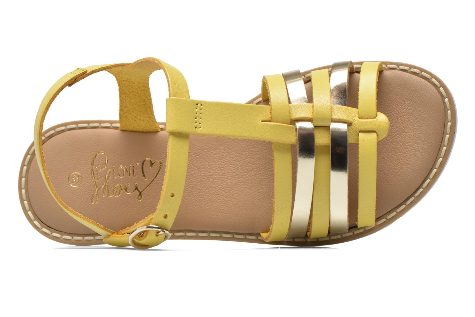 Sandals I Love Shoes Dobrides Yellow view from the left