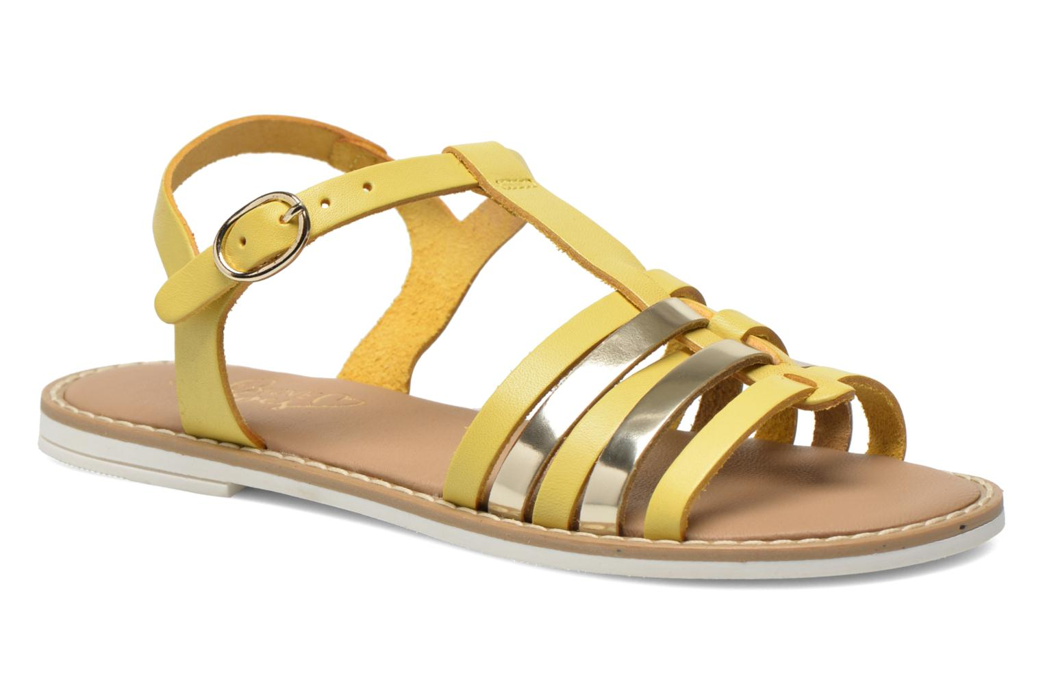 Sandals I Love Shoes Dobrides Yellow detailed view/ Pair view