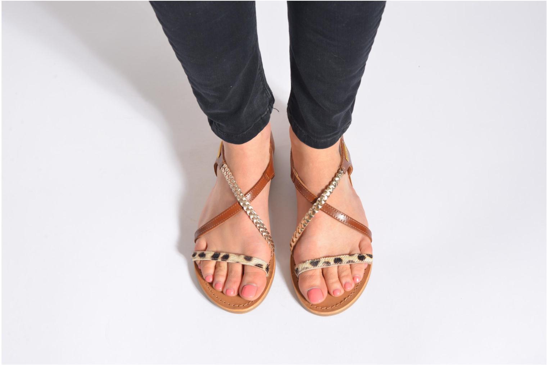 Sandals Les Tropéziennes par M Belarbi Horse Brown view from underneath / model view