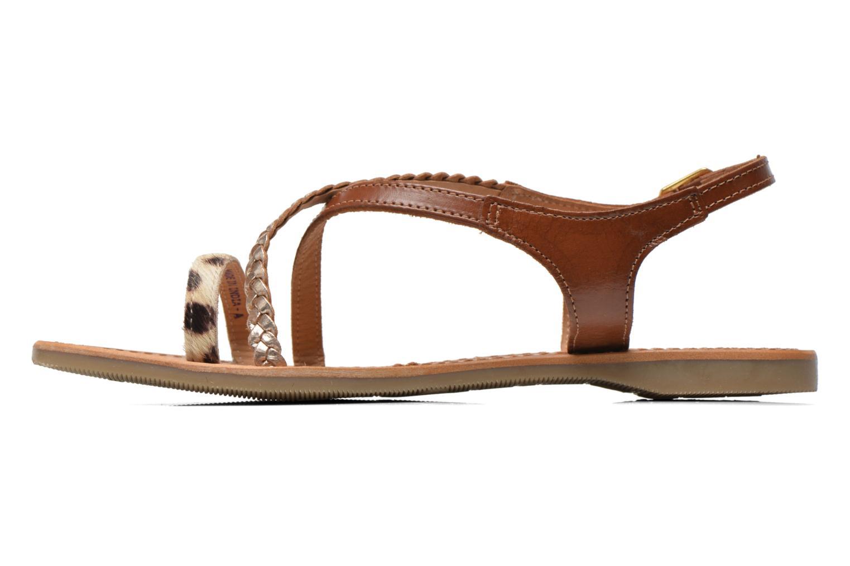 Sandals Les Tropéziennes par M Belarbi Horse Brown front view