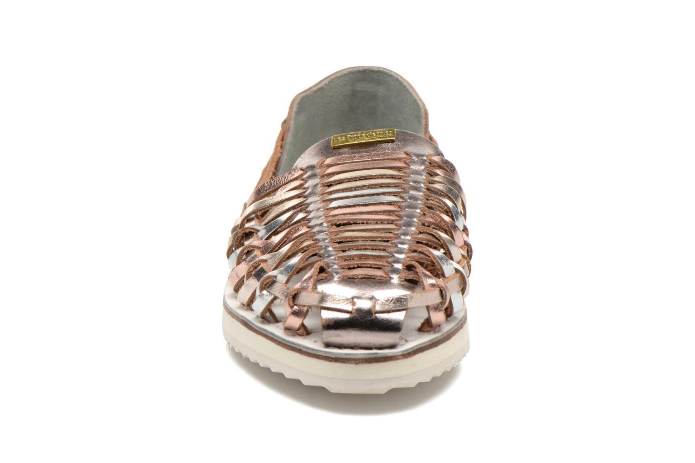 Sandales et nu-pieds Les Tropéziennes par M Belarbi Mardi Or et bronze vue portées chaussures