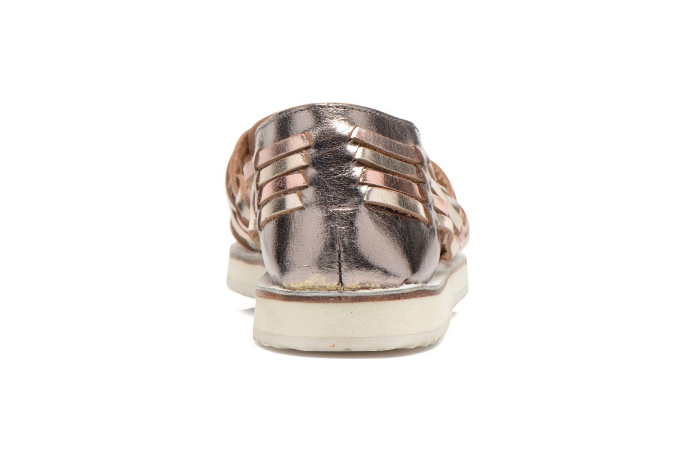 Sandales et nu-pieds Les Tropéziennes par M Belarbi Mardi Or et bronze vue droite