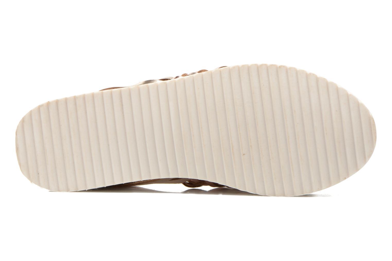 Sandales et nu-pieds Les Tropéziennes par M Belarbi Mardi Or et bronze vue haut