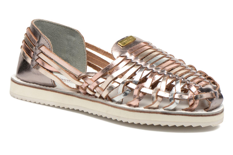 Sandales et nu-pieds Les Tropéziennes par M Belarbi Mardi Or et bronze vue détail/paire