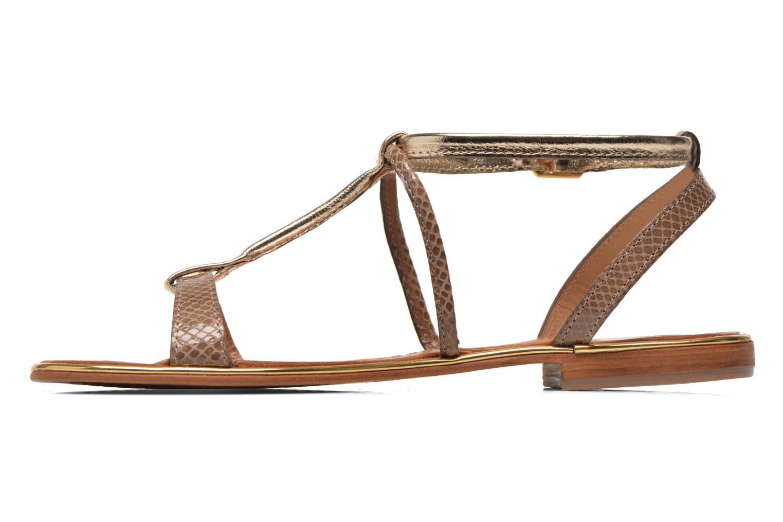 Sandals Les Tropéziennes par M Belarbi Haquina Bronze and Gold front view