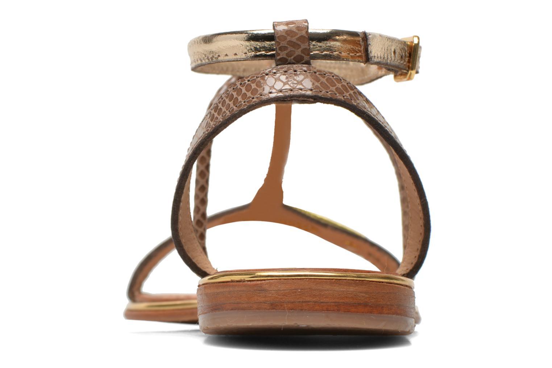 Sandali e scarpe aperte Les Tropéziennes par M Belarbi Haquina Oro e bronzo immagine destra